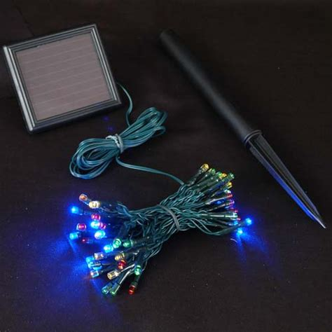 solar operated lights multi colored solar lights with 50 bulbs