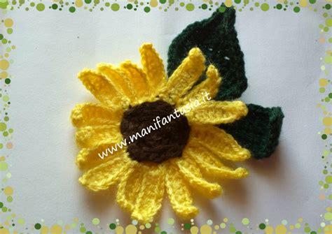 fiori uncinetto facili girasoli uncinetto facili per applicazioni manifantasia
