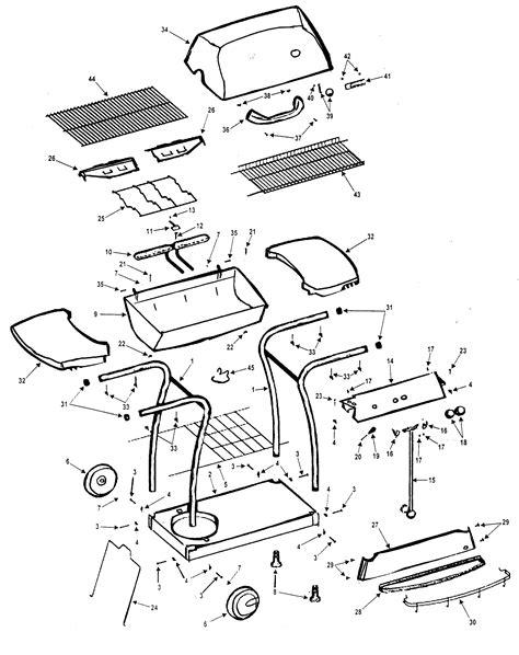 gas grill parts diagram kenmore grill parts model 415162020 sears partsdirect