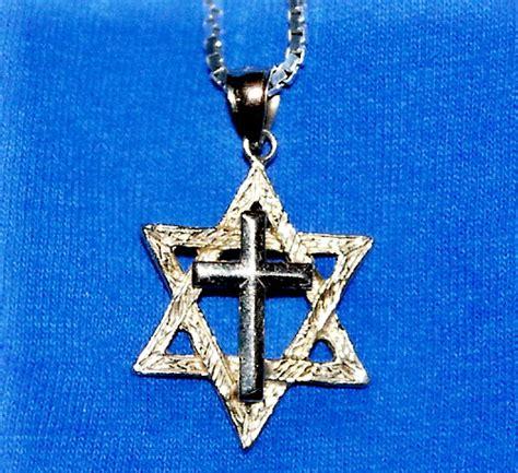cross necklace jewish catholic cross necklace