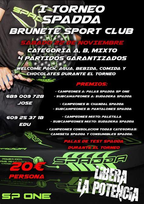 dejar un comentario cancelar respuesta i torneo spadda 22 noviembre 2014 brunete sport club