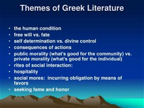 Themes In Greek Literature | ppt common themes in canadian literature powerpoint