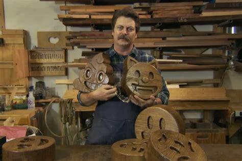nick offerman presents  handcrafted wood emojis popoptiq