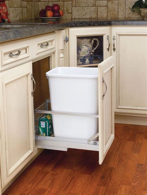 rev a shelf 5349 15dm18 1 white 5349 series 35 quart pull