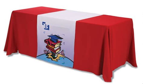 trade table runner advantages of customized table runners in trade shows