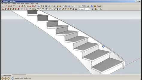 sketchup curved staircase builder including curved