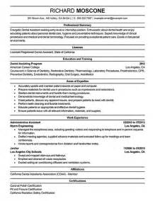 Dental Assistant Resume Sample Sample Dental Assistant Resume Objectives Images