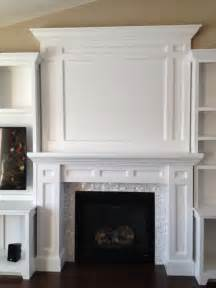 Faux Wainscot Amazing Diy Entertainment Center And Fireplace