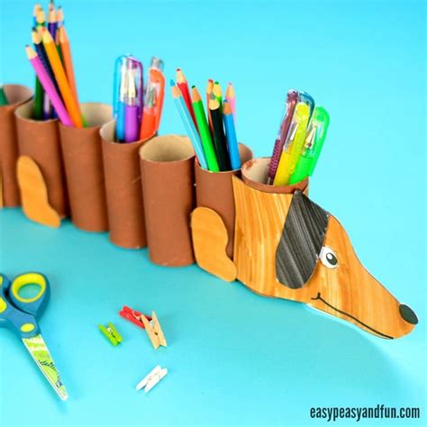 Dog Toilet Paper Holder by Dog Paper Roll Pencil Holder Easy Peasy And Fun