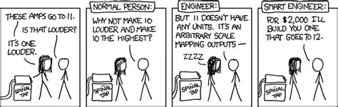 design engineer vs sales engineer xkcd spinal tap amps