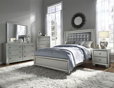 Bedroom Sets 400 by Celestial Upholstered Panel Bedroom Set From Samuel