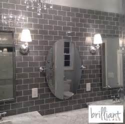 Home Depot Kitchen Backsplash Tiles 9 95sf ocean gray glass 3 x 6 inch subway tile