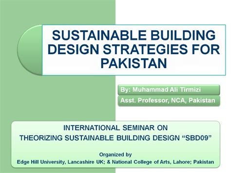 layout strategy slideshare sustainable building design strategies for pakistan