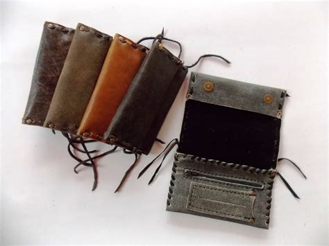 Handmade Tobacco Pouch - handmade exclusive leather tobacco pouch in 5 colors