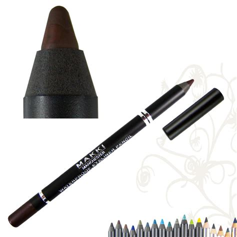Eyeliner Pensil Purbasari makki brown glide waterproof eyeliner pencil stay smudgeproof ebay