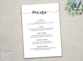 Free Wedding Menu Templates For Microsoft Word by Free Wedding Menu Templates Microsoft Word Wedding