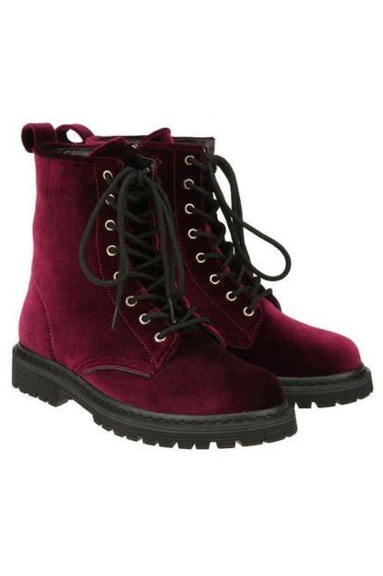 burgundy combat boots suede burgundy lace up high top rock