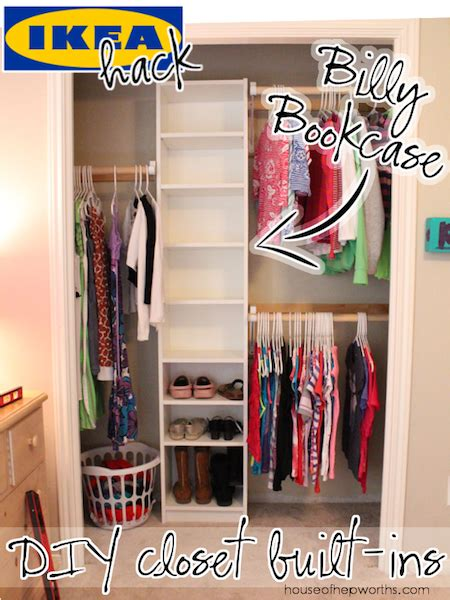 custom closet ikea hack how to build your own closet built ins using a billy