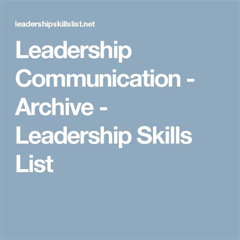 leadership skill list 25 best ideas about leadership examples on pinterest