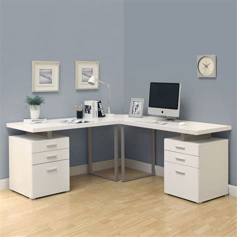 L Shaped Desk Canada Shop Monarch Specialties Hollow L Shaped Desk At Lowe S Canada Find Our Selection Of Desks