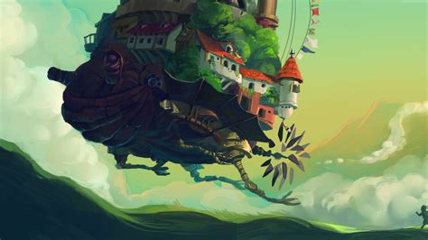 Anime 4k Wallpaper by Moving Castle Howls Moving Castle Turnip Meadow Anime