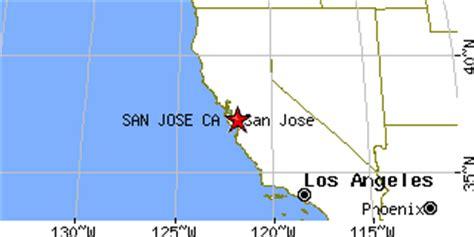 san jose map latitude and longitude san jose california ca population data races