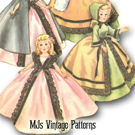 clothes pattern for dolls vtg old fashioned doll clothes pattern 10 5 quot little miss