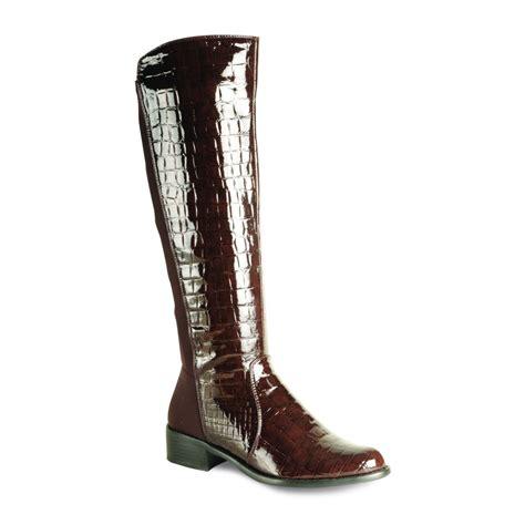 croc boots glc369 brown patent croc boot