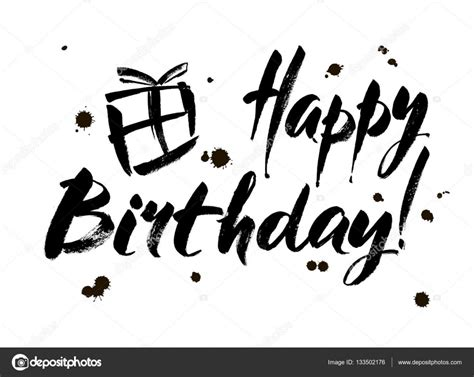 imagenes blanco y negro feliz cumpleaños inscripci 243 n de cumplea 241 os feliz tarjeta de felicitaci 243 n