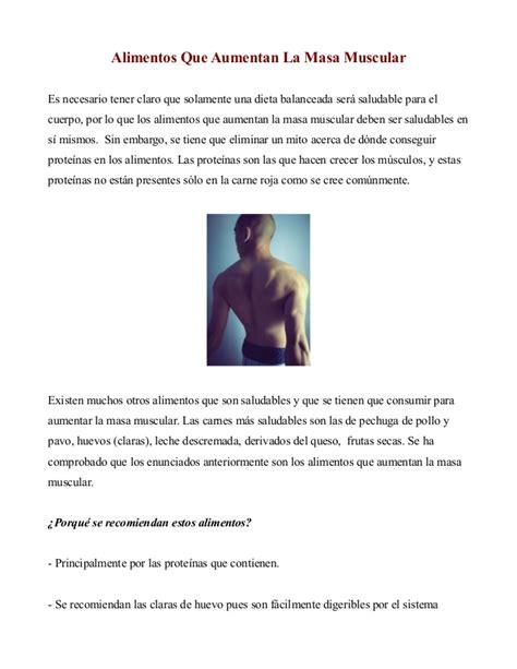 alimentos  aumentan la  muscular