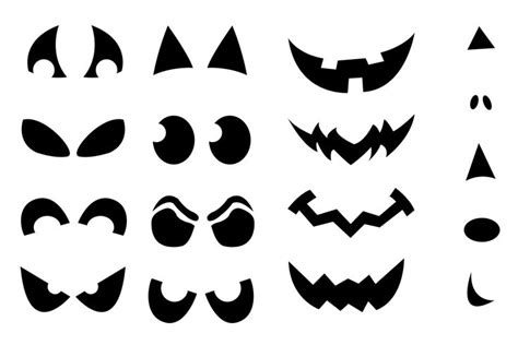 scary eyes templates jack o lantern faces stencils