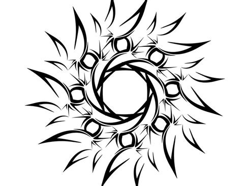 tribal flower tattoo designs cliparts co
