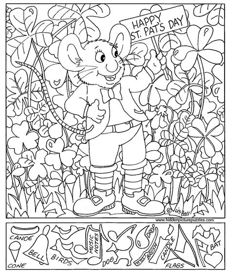 free coloring pages of hidden objects