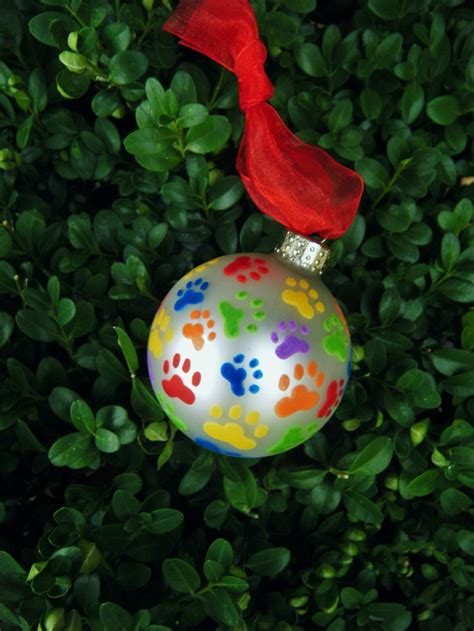 paw print ornament cat and dog pawprints personalized
