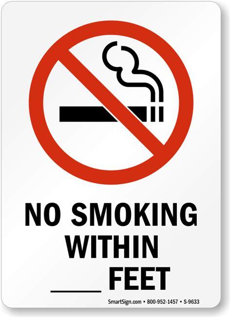 no smoking signs within 20 feet no smoking labels within feet sku s 9633