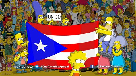imagenes historicas de los simpson the simpsons appeal for puerto rico aid cnn