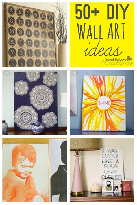 cool diy home decor decor hacks over 50 cool ways to diy easy wall art