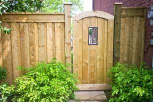 wood gates suburban fence