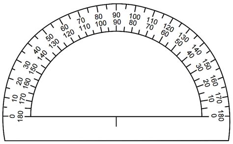 printable protractor with ruler places to get free printable rulers