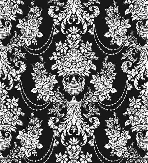 pattern classic vector classic traditional black and white pattern 02 vector free