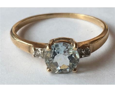 antique vintage rings ebay vintage 10k yellow gold aquamarine and ring ebay