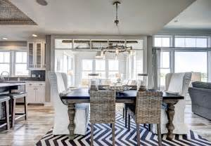 Coastal Dining Room Furniture by Ranch Style Home With Transitional Coastal Interiors