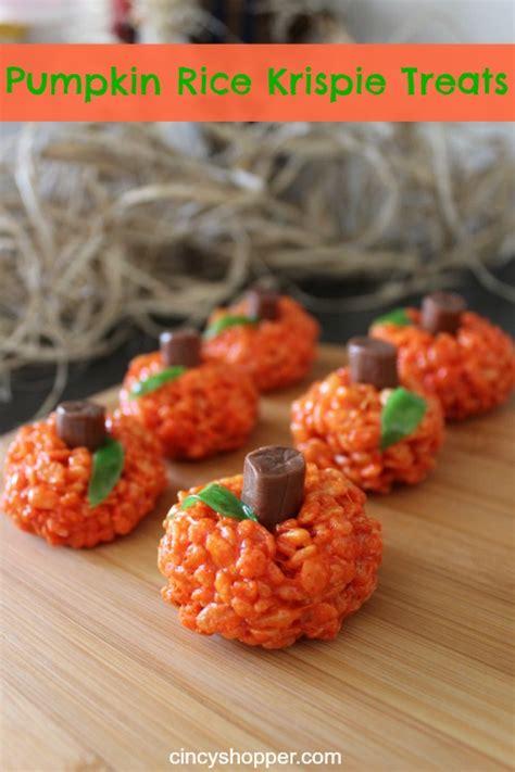 treat recipes pumpkin pumpkin rice krispie treats recipe cincyshopper