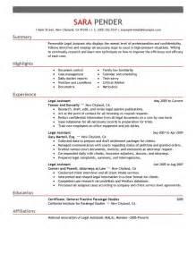 Legal Assistant Resume Cover Letter legal assistant legal emphasis 1 jpg