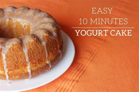yogurt cake recipe curly made easy 10 min yogurt cake recipe