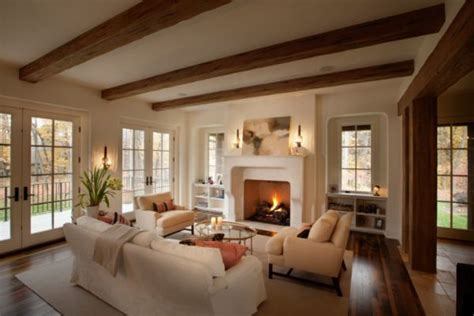 interior beams in houses beautiful interiors that feature exposed wooden beams