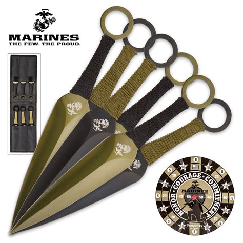 printable throwing knife targets usmc throwing knife set with paper target officially