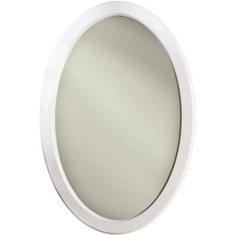 oval mirror medicine cabinet recessed dunhill 21 in w x 31 in h x 3 5 in d oval mirrored
