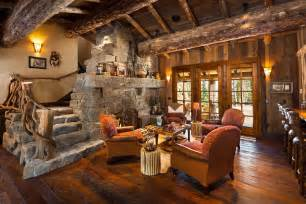 Home Styles The Orleans Kitchen Island Custom Big Sky Log Homes And Luxury Log Cabins