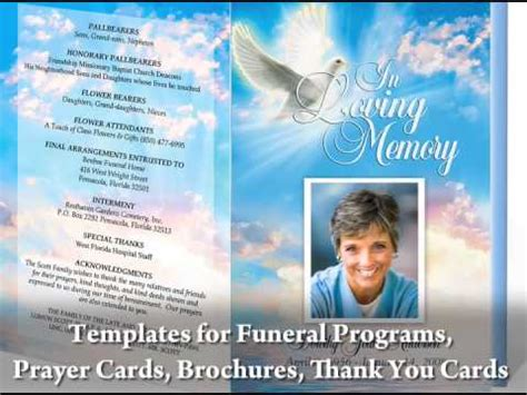 my publisher templates great on how to create your own funeral programs by